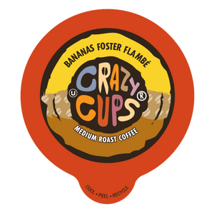 Crazy Cups Banana Foster Flambe Flavored coffee Single Serve cups
