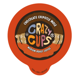 Crazy Cups Chocolate Chipotle Mole Flavored Coffee Single Serve Cups