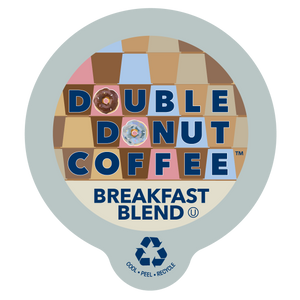 Double Donut Coffee Breakfast Blend Single Serve Cups