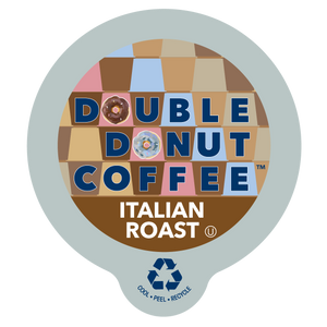 Double Donut Coffee Italian Roast Blend Single Serve Cups