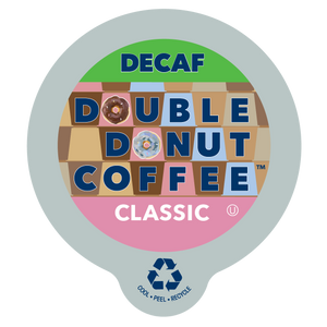 Double Donut Coffee Classic Decaf Coffee Single Serve Cups