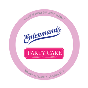 Entenman's Party Cake Flavored Coffee Single Serve Cups For Keurig K cup Brewer