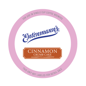 Entenman's Cinnamon Crumb Cake Flavored Coffee Single Serve Cups For Keurig K cup Brewer