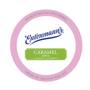 Entenman's Caramel Apple Flavored Coffee Single Serve Cups For Keurig K cup Brewer