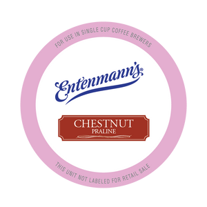 Entenman's Chestnut Praline Flavored Coffee Single Serve Cups For Keurig K cup Brewer