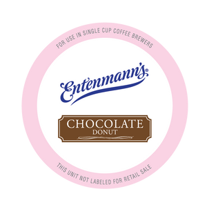 Entenman's Chocolate Donut Flavored Coffee Single Serve Cups For Keurig K cup Brewer