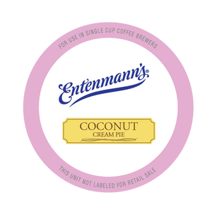Entenman's Coconut Cream Pie Flavored Coffee Single Serve Cups For Keurig K cup Brewer