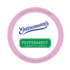 Entenman's Peppermint Flavored Coffee Single Serve Cups For Keurig K cup Brewer