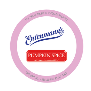 Entenman's Pumpkin Spice Flavored Coffee Single Serve Cups For Keurig K cup Brewer