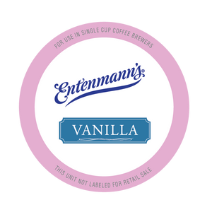 Entenman's Vanilla Flavored Coffee Single Serve Cups For Keurig K cup Brewer