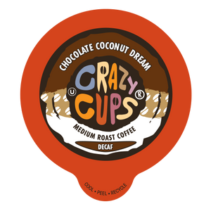 Crazy Cups Decaf Chocolate Coconut Dream Flavored Coffee Single Serve Cups
