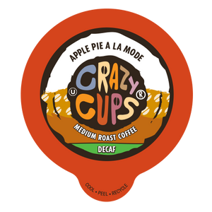 Crazy Cups Decaf Apple Pie A La Mode Flavored Coffee Single Serve Cups