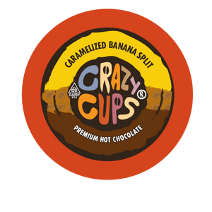 Crazy Cups Caramelized Banana Split Hot chocolate Single Serve cups