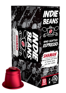 Indie Beans Nespresso Coffee Capsules, Medium Roast Shaman