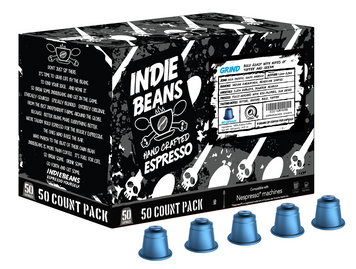 Indie Beans Nespresso Coffee Capsules, Bold Roast Grind