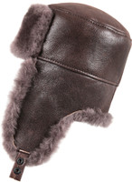 Shearling Sheepskin Russian Ushanka Fur Hat - Cashmere