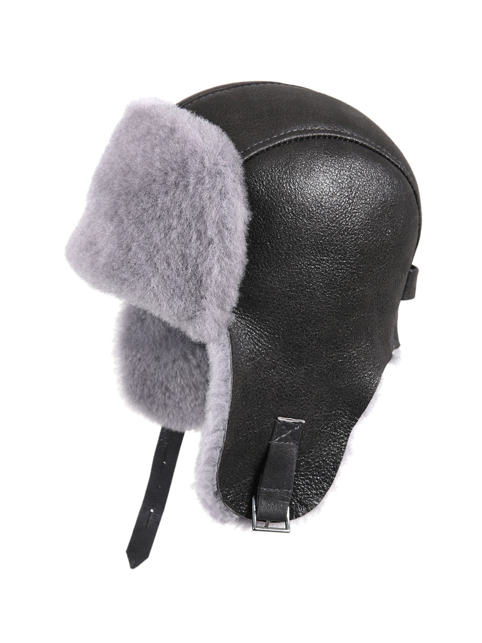 7b531b2b66df5 ... Shearling Sheepskin Pilot Winter Fur Hat - Antrasit. Image 1. Loading  zoom