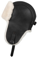 Shearling Sheepskin Pilot Winter Fur Hat - Brown/Beige