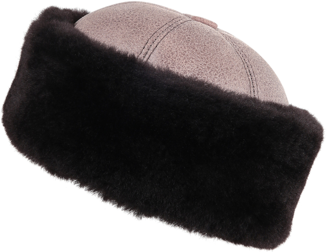 158d4d6af88ba ... Shearling Sheepskin Bucket Winter Fur Hat - Gray. Image 1. Loading zoom