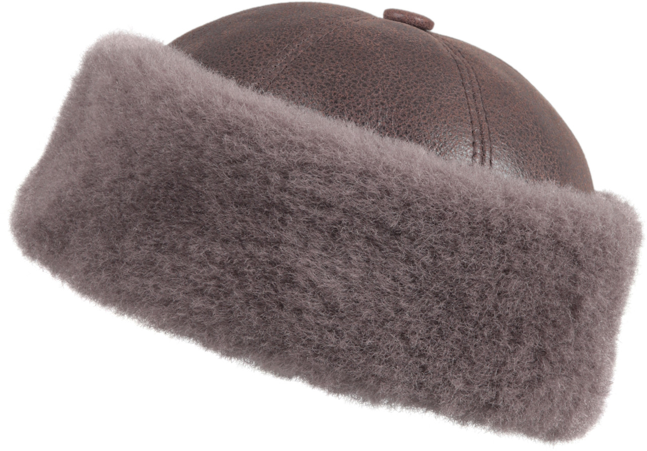 6d8ff0a5 ... Shearling Sheepskin Bucket Winter Fur Hat - Cashmere. Image 1. Loading  zoom