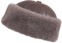 Shearling Sheepskin Bucket Winter Fur Hat - Cashmere