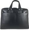 Men's Genuine Leather Briefcase Laptop Shoulder Messenger Bag - Black 4