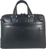 Men's Genuine Leather Briefcase Laptop Shoulder Messenger Bag - Black 8