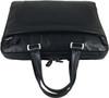 Men's Genuine Leather Briefcase Laptop Shoulder Messenger Bag - Black 9