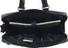 Men's Genuine Leather Briefcase Laptop Shoulder Messenger Bag - Black 6