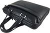 Men's Genuine Leather Briefcase Laptop Shoulder Messenger Bag - Black 7