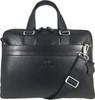 Men's Genuine Leather Briefcase Laptop Shoulder Messenger Bag - Black