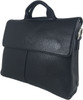 Men's Genuine Leather Shoulder Business Messenger Bag Briefcase Black 2
