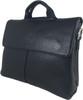 Men's Genuine Leather Shoulder Business Messenger Bag Briefcase Black 2
