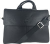 Men's Genuine Leather Shoulder Business Messenger Bag Briefcase Black