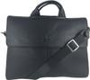 Men's Genuine Leather Shoulder Business Messenger Bag Briefcase Black