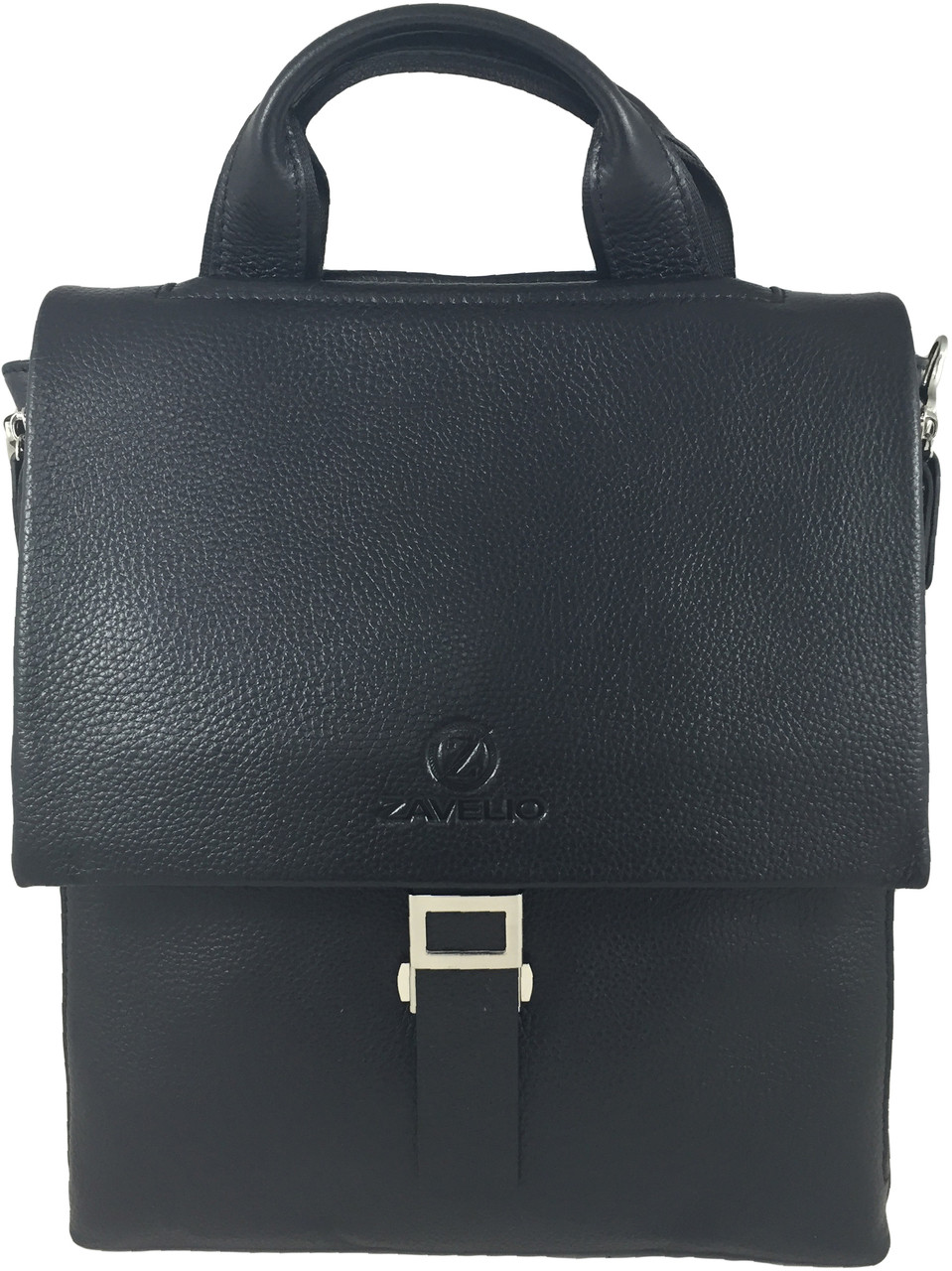 ... Men s Genuine Leather Briefcase Single Buckle Messenger Bag with Flap  5314a172b15d2