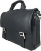 Men's Genuine Leather Briefcase Twin Buckle Shoulder Bag 2