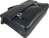 Men's Genuine Leather Briefcase Twin Buckle Shoulder Bag 10