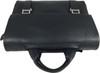 Men's Genuine Leather Briefcase Twin Buckle Shoulder Bag 11
