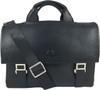 Men's Genuine Leather Briefcase Twin Buckle Shoulder Bag 7