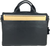 Men's Genuine Leather Briefcase Twin Buckle Shoulder Bag 5