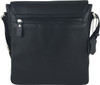 Zavelio Men's Genuine Leather Small Crossbody Shoulder Messenger Bag - Black | ZAVELIO 5