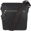 Men's Genuine Leather Small Crossbody Shoulder Messenger Bag - Brown | ZAVELIO 1
