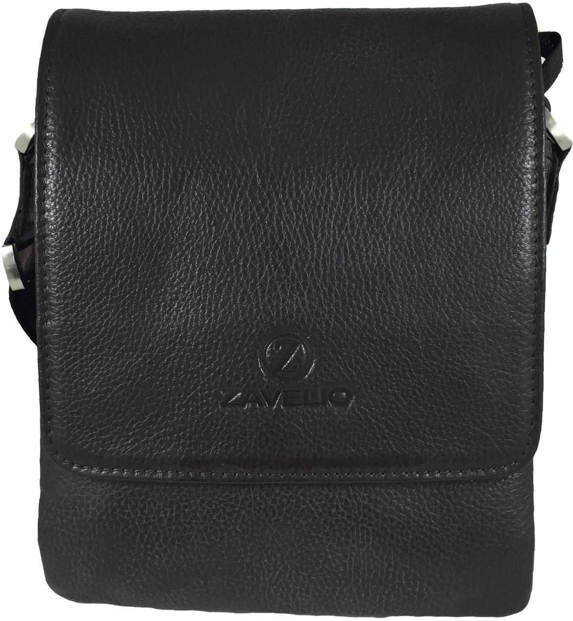 Men s Genuine Leather Small Cross Body Shoulder Messenger Bag - Brown 1.  Loading zoom 6315048a8e