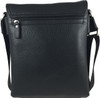 Men's Genuine Leather Medium Cross Body Shoulder Messenger Bag - Black 4
