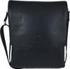 Men's Genuine Leather Medium Cross Body Shoulder Messenger Bag - Black 1