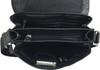 Men's Genuine Leather Medium Cross Body Shoulder Messenger Bag - Black 5