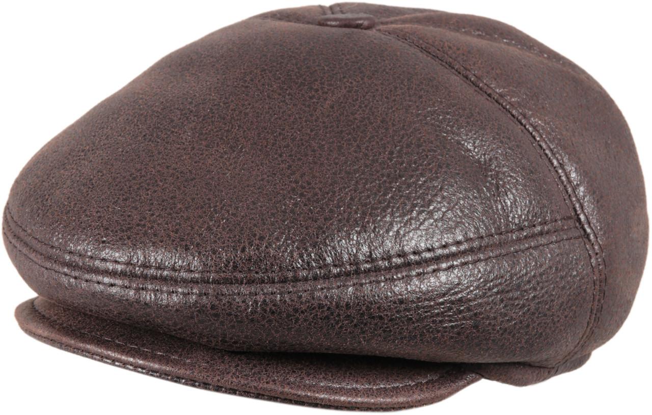 cf65ba3f408 ... Men s Leather Shearling Sheepskin 5 Panel Ivy Driving Cap Cashmere.  Image 1. Loading zoom