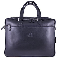 Men's Rikard Genuine Leather Business Briefcase Messenger Bag Black