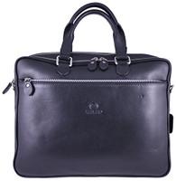 Men's Rikard Genuine Leather Business Briefcase Messenger Bag Black